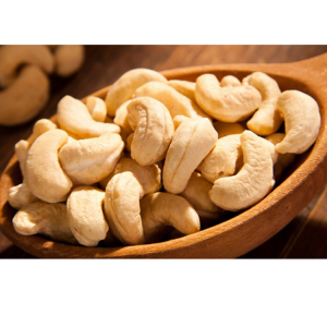 Salted cashew nuts shelled silk